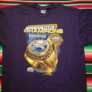 Vintage Denver Broncos Superbowl t shirt